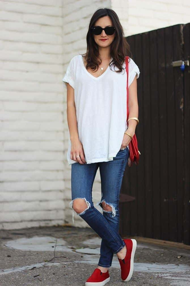 Cute Outfit Ideas To Wear With Slip-On Sneakers (23)