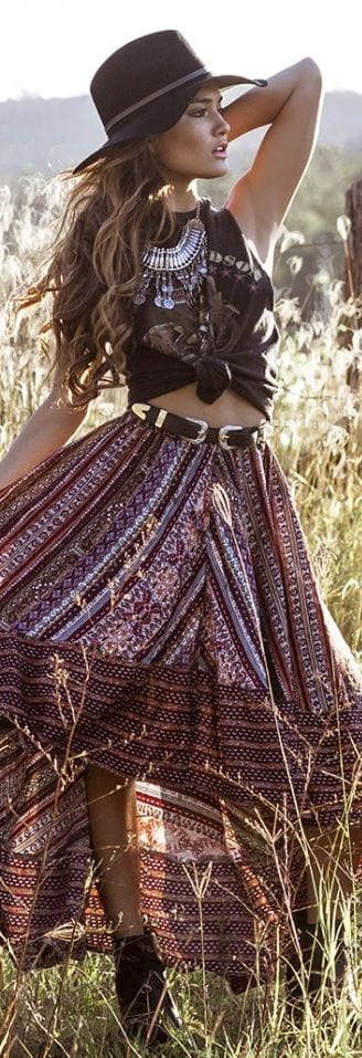 2-4 Hippie Skirts Outfits- 16 Ideas How to Wear Hippie Skirts