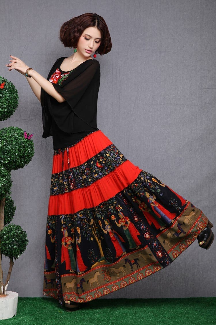 Gypsy Skirts Outfits (18)