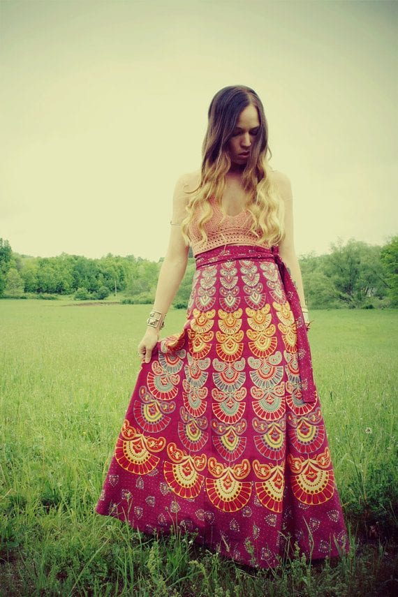 4-4 Hippie Skirts Outfits- 16 Ideas How to Wear Hippie Skirts