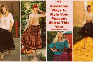peasant skirt outfit ideas