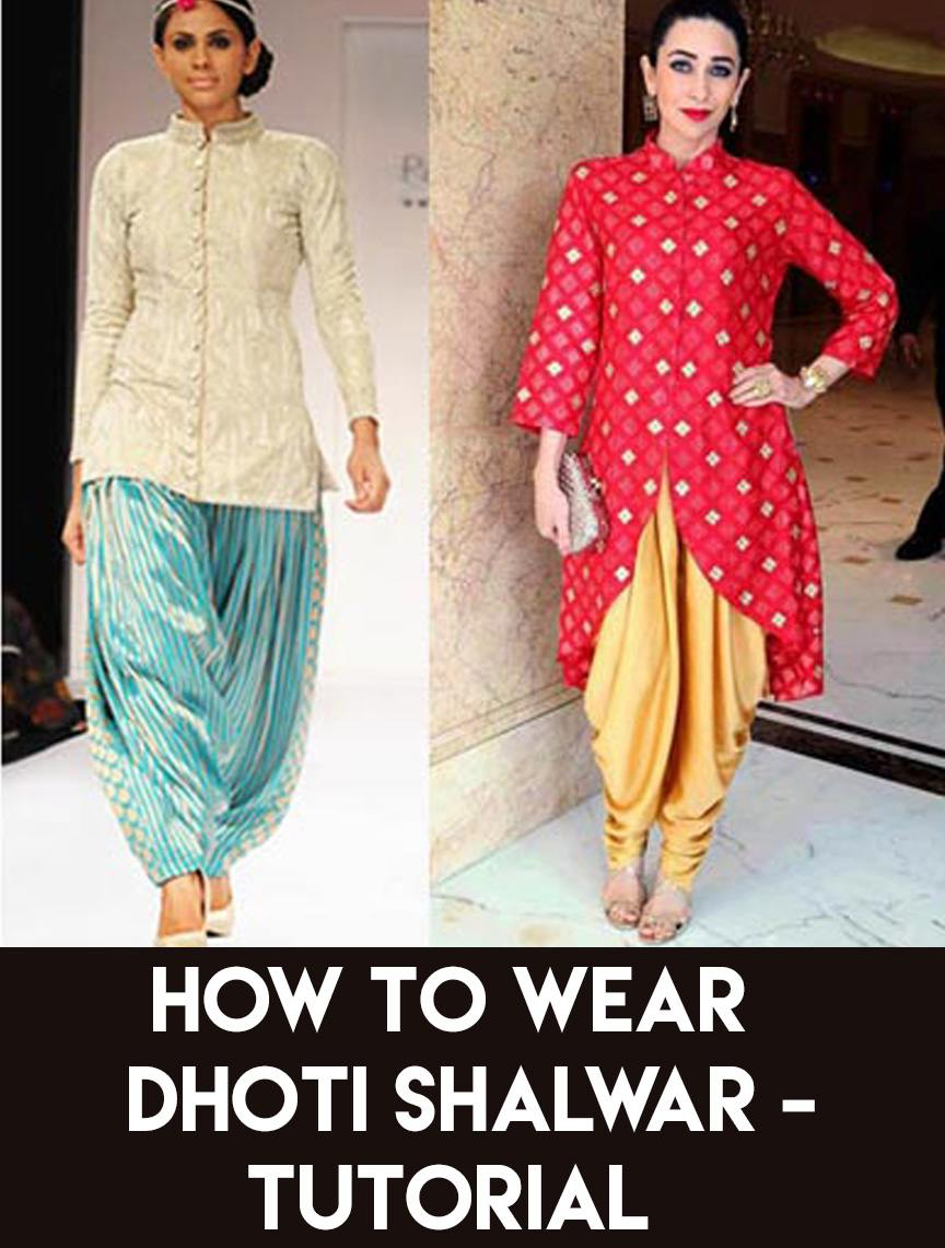 How to dhoti wear for girls