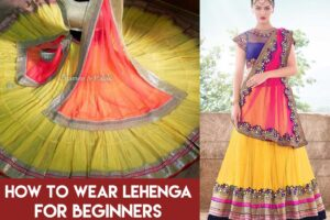 how to wear lehenga
