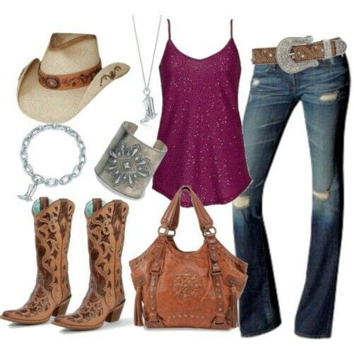 f80932090cd6d36684db80fa47642098 Country Concert Outfits For Women - 20 Styles To Try