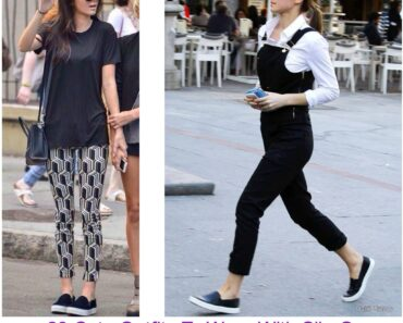 Cute Outfit Ideas To Wear With Slip-On Sneakers (1)