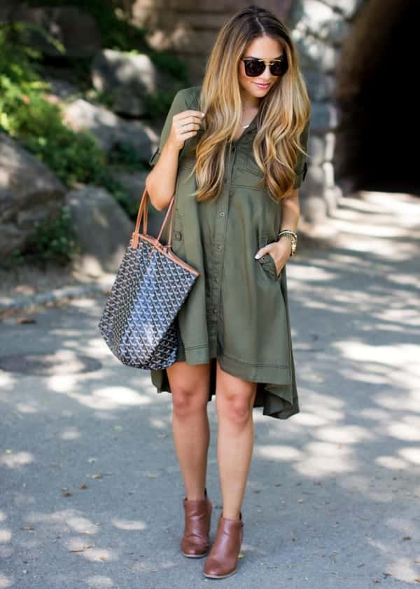 swing-dress-15 How To Wear A Swing Dress This Summer-19 Outfit Ideas