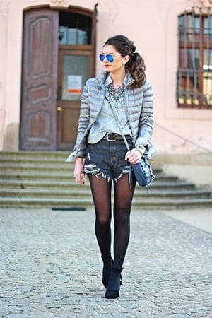 How to Wear Shorts in Winters (30)