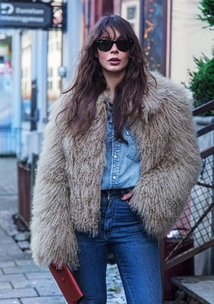 How to Wear Outfits with Faux Fur Coats (10)