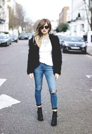 How to Wear Outfits with Faux Fur Coats (2)