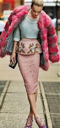 2-1 Outfits with Faux Fur Coat - 20 Ways to Wear Faux Fur Coat