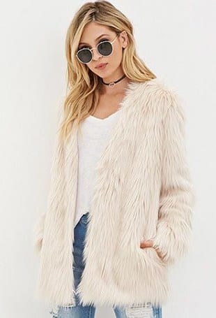 3-2 Outfits with Faux Fur Coat - 20 Ways to Wear Faux Fur Coat
