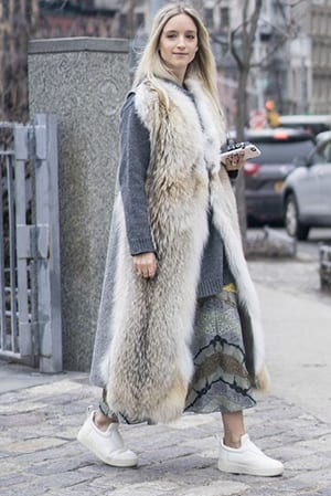 How to Wear Outfits with Faux Fur Coats (16)
