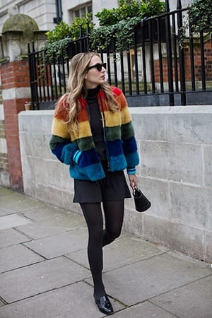 How to Wear Outfits with Faux Fur Coats (15)