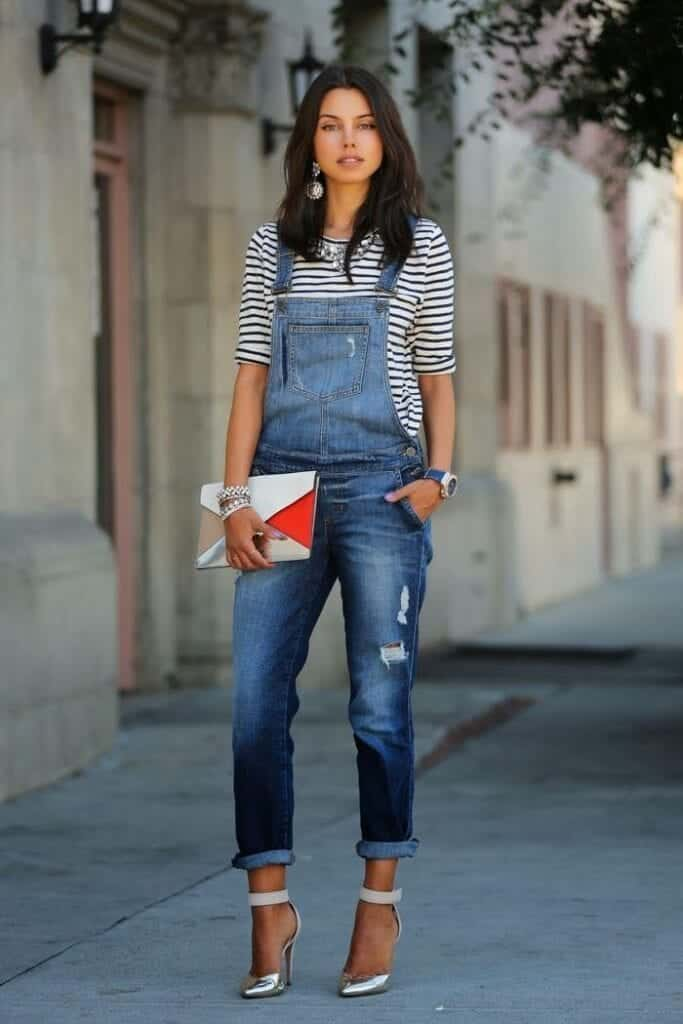 Overalls-in-autumn-683x1024 Autumn Outfit Ideas for Women-50 Ideas How To Dress In Autumn