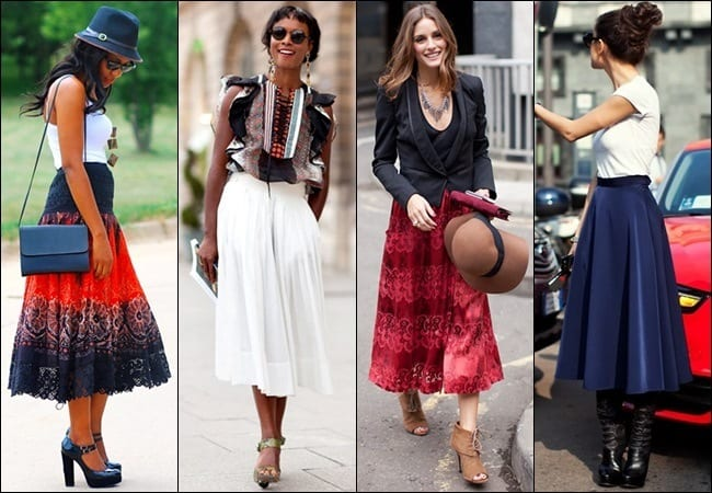 Skirts-in-Autumns Autumn Outfit Ideas for Women-50 Ideas How To Dress In Autumn