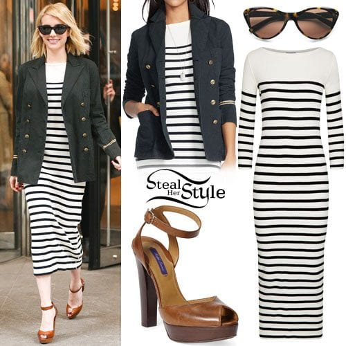 Stripes-in-Autumn Autumn Outfit Ideas for Women-50 Ideas How To Dress In Autumn