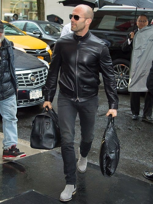 How to wear leather jacket men