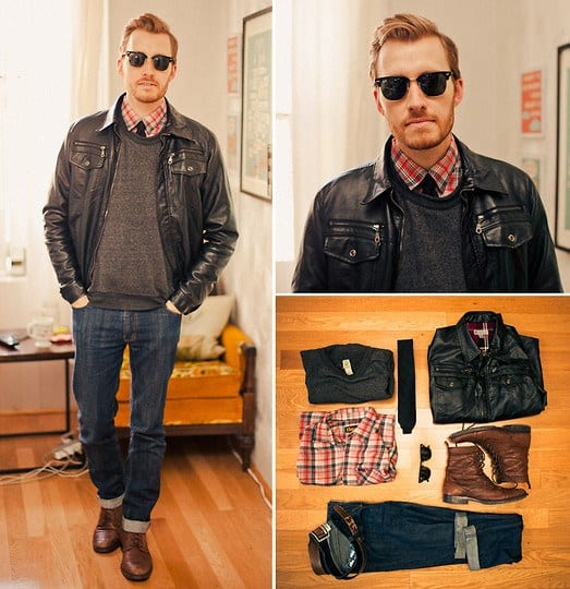 Ideas for Men to wear Leather Jackets (8)