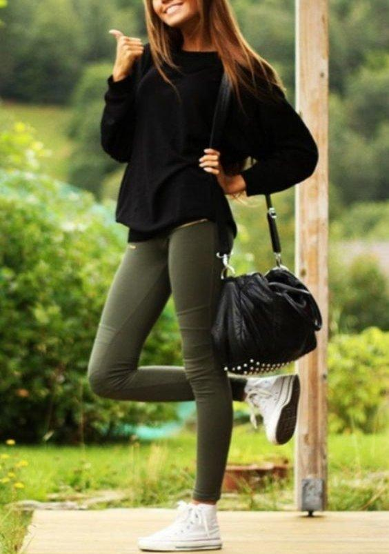 rsz_coloredpants Outfits With Converse-20 Stylish Ways to Wear Converse Shoes