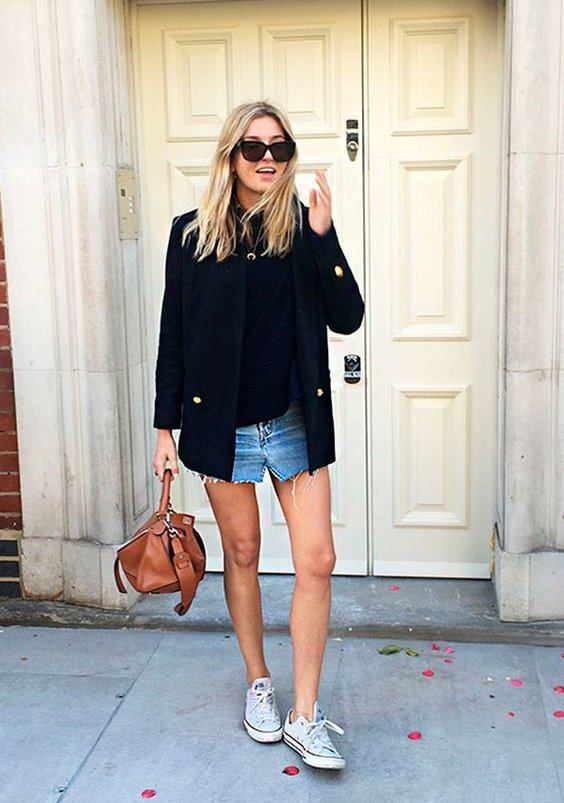 rsz_denimskirt Outfits With Converse-20 Stylish Ways to Wear Converse Shoes