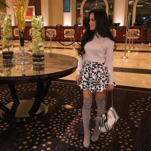 How to wear Shearling Boots - Ideas to wear Dresses with boots