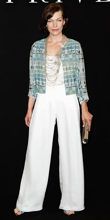 white wide leg pants celebrity style