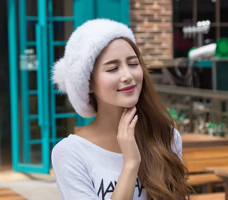 Beret-Natural-Knitted-Rex-russian-winter-fashion Stylish Winter Hats for Women-These 8 Winter Hats Every Girl Must Try