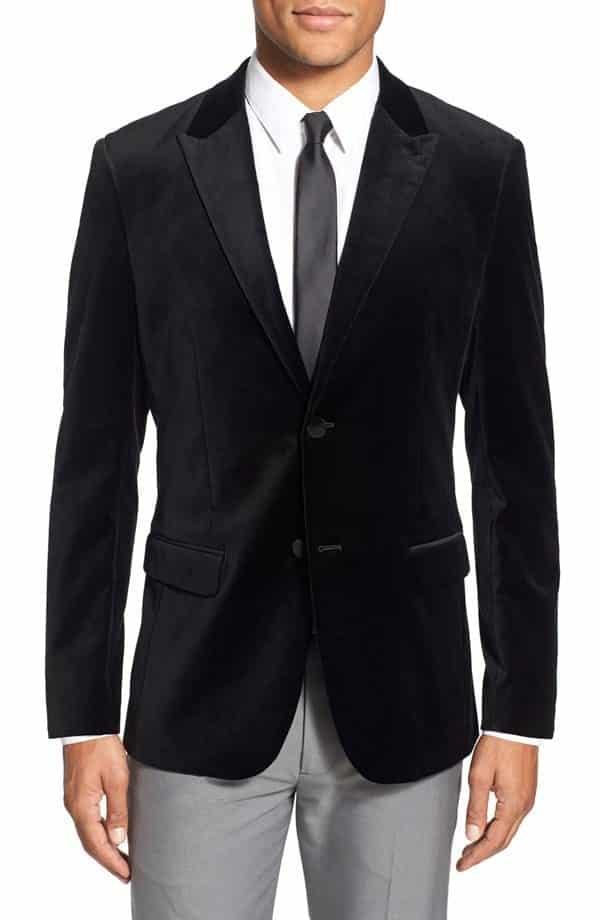 Mens-Velvet-Blazer-2015-Theory-Trim-Fit Men Velvet Blazer Outfits-17 Ideas on How to Wear Velvet Blazer