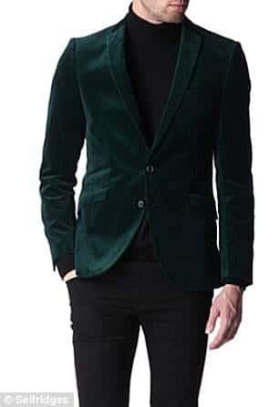 article-0-167B78CA000005DC-201_306x447 Men Velvet Blazer Outfits-17 Ideas on How to Wear Velvet Blazer