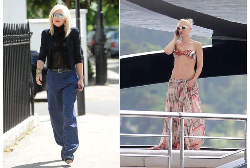 beach-outfit-gwen-stefani Hollywood Celebrities Beach Outfits-30 Top Celebs in Beachwear