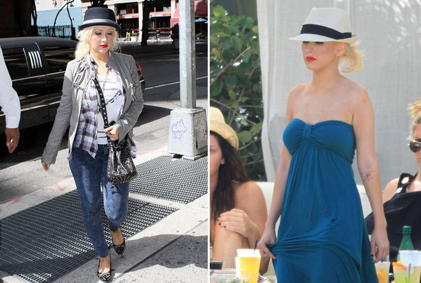 beach-outfits-christina-aguilera Hollywood Celebrities Beach Outfits-30 Top Celebs in Beachwear