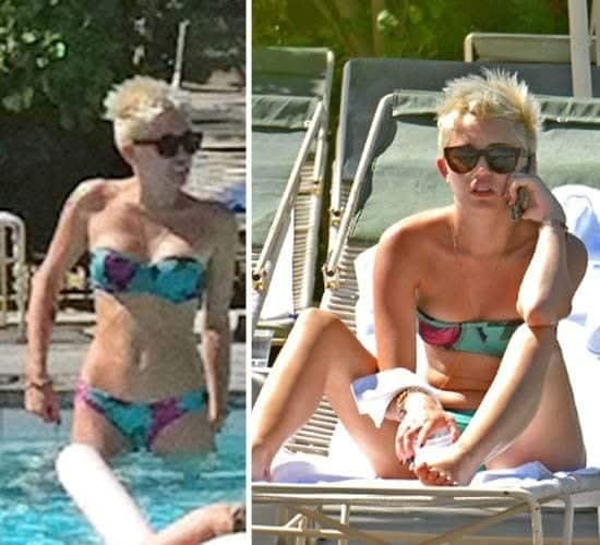 miley-cyrus-beach-outfit Hollywood Celebrities Beach Outfits-30 Top Celebs in Beachwear