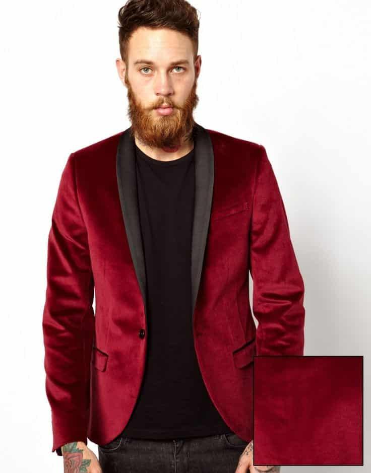 noose Men Velvet Blazer Outfits-17 Ideas on How to Wear Velvet Blazer