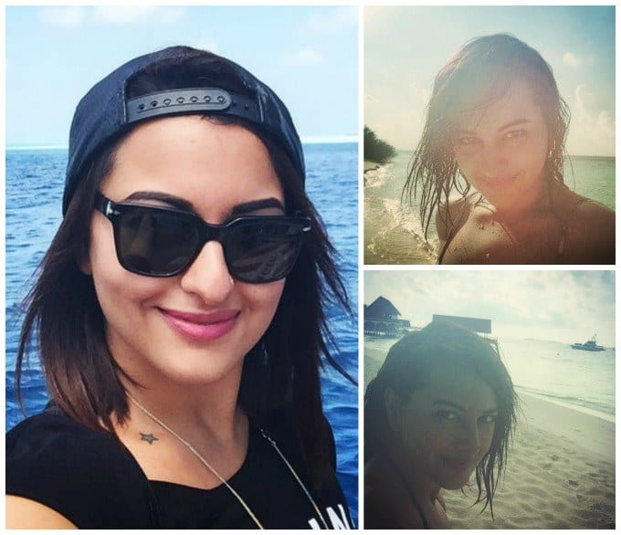 sonakshi-sinha-beach-outfit Bollywood Celebrities Beach Outfits-25 Indian Actress Beachwear