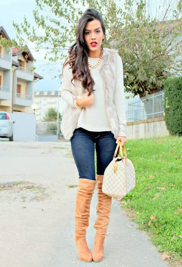 1-10 Fur Vest Outfits - 17 Ideas How to Wear Fur Vest with Any Outfit