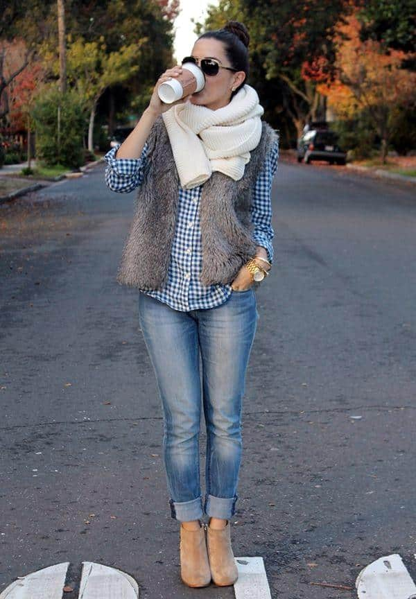 1-11 Fur Vest Outfits - 17 Ideas How to Wear Fur Vest with Any Outfit