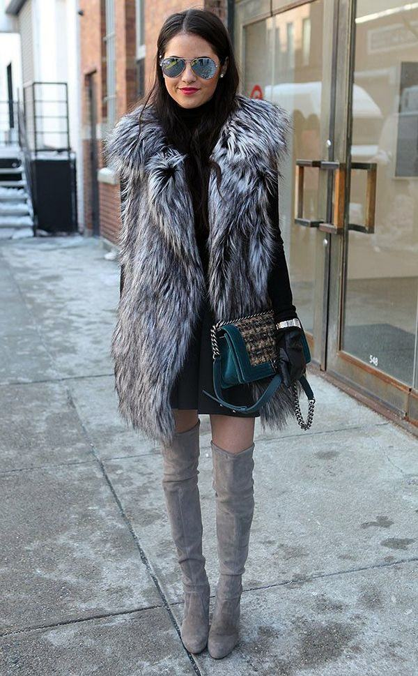 1-12 Fur Vest Outfits - 17 Ideas How to Wear Fur Vest with Any Outfit