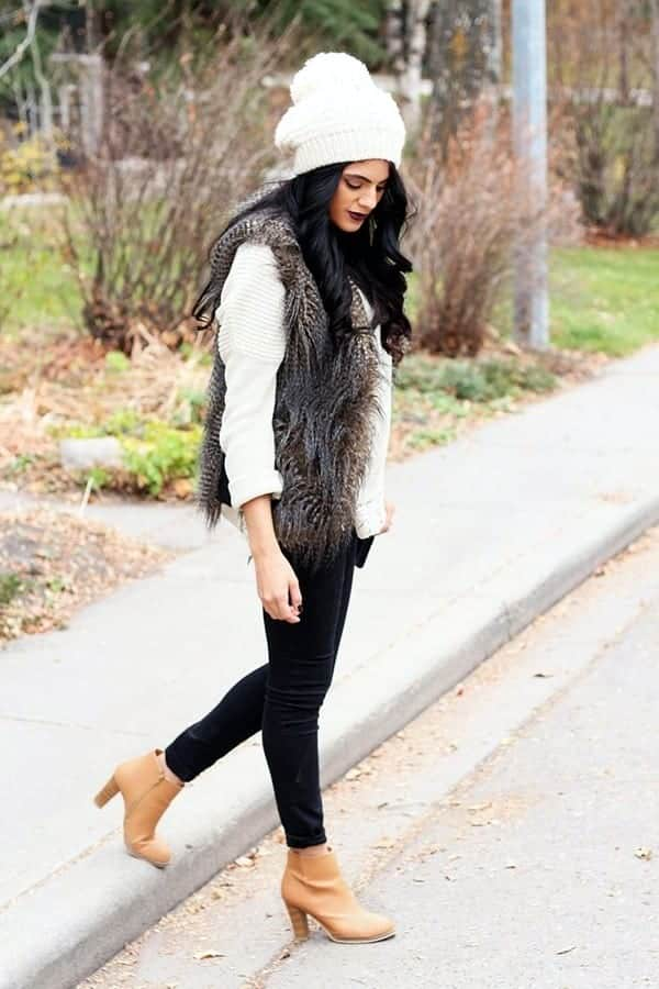 1-13 Fur Vest Outfits - 17 Ideas How to Wear Fur Vest with Any Outfit