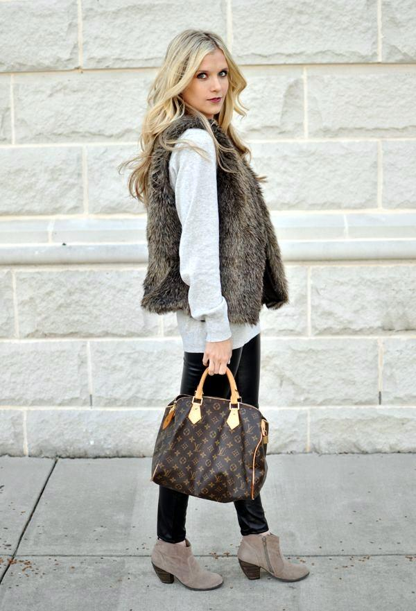 1-14 Fur Vest Outfits - 17 Ideas How to Wear Fur Vest with Any Outfit