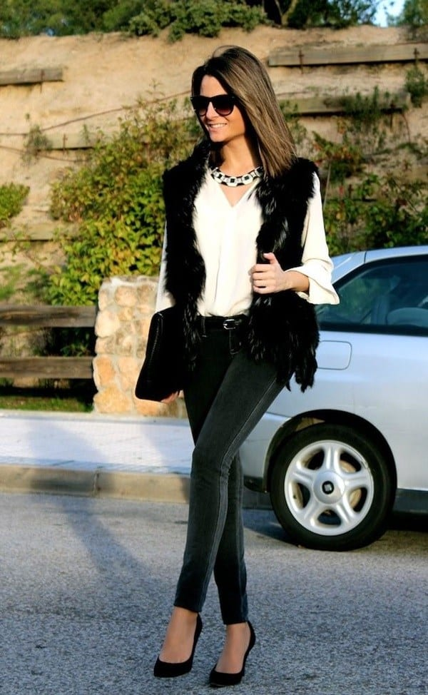 1-15 Fur Vest Outfits - 17 Ideas How to Wear Fur Vest with Any Outfit
