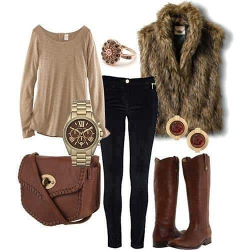 1-23 Fur Vest Outfits - 17 Ideas How to Wear Fur Vest with Any Outfit