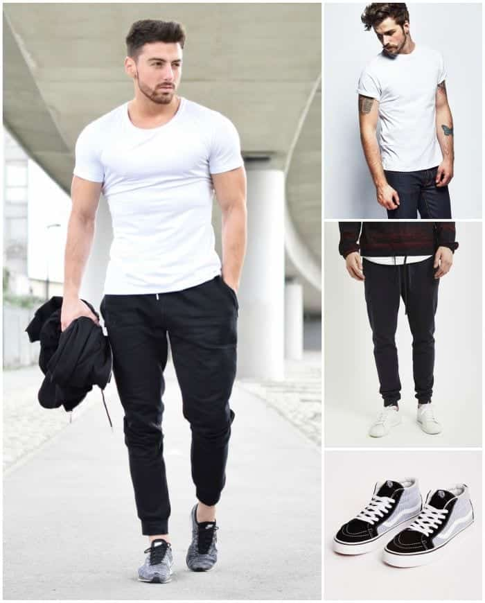 Black Sweatpants Outfit Men