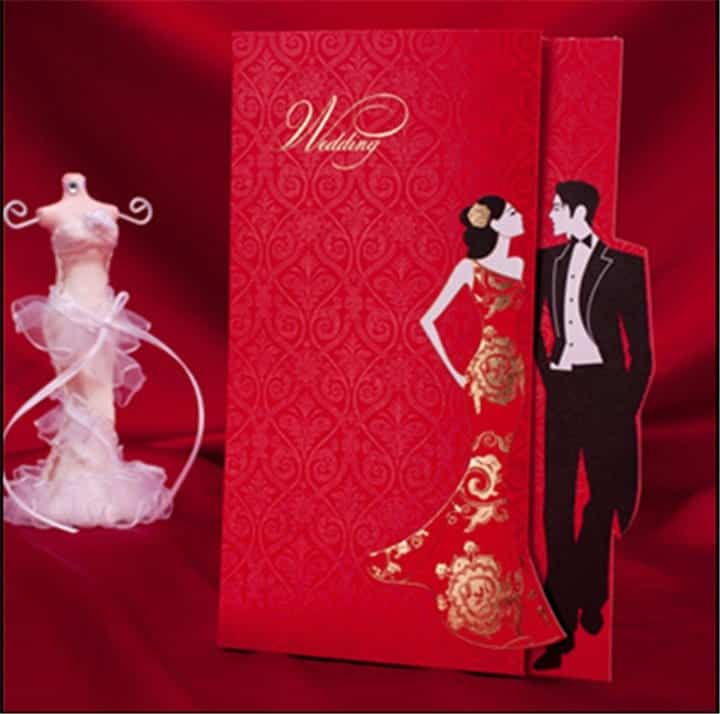 50Pcs-Lot-Free-Shipping-Red-China-font-b-Wedding-b-font-font-b-Invitations-b-font 40 Most Elegant Ideas for Wedding Invitation Cards and Creativity