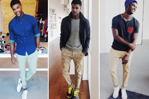 Colored-skinny-jeans-2 Men's Outfits with Skinny Jeans-18 Ways to wear Skinny Jeans