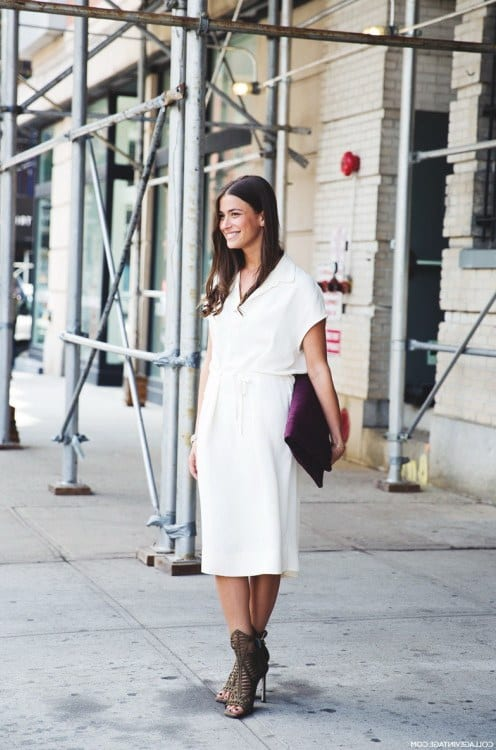 Little-White-Dresses-Street-Style-Looks-11 What To Wear in Vegas-18 Ultimate Attire Ideas for Ladies off to Vegas