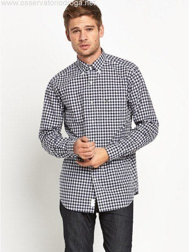 Men-Lacoste-Small-Check-Shirt-Shirts-marine-WM4600386-376x500 Outfits for Short Height Guys-20 Fashion Tips to Look Taller