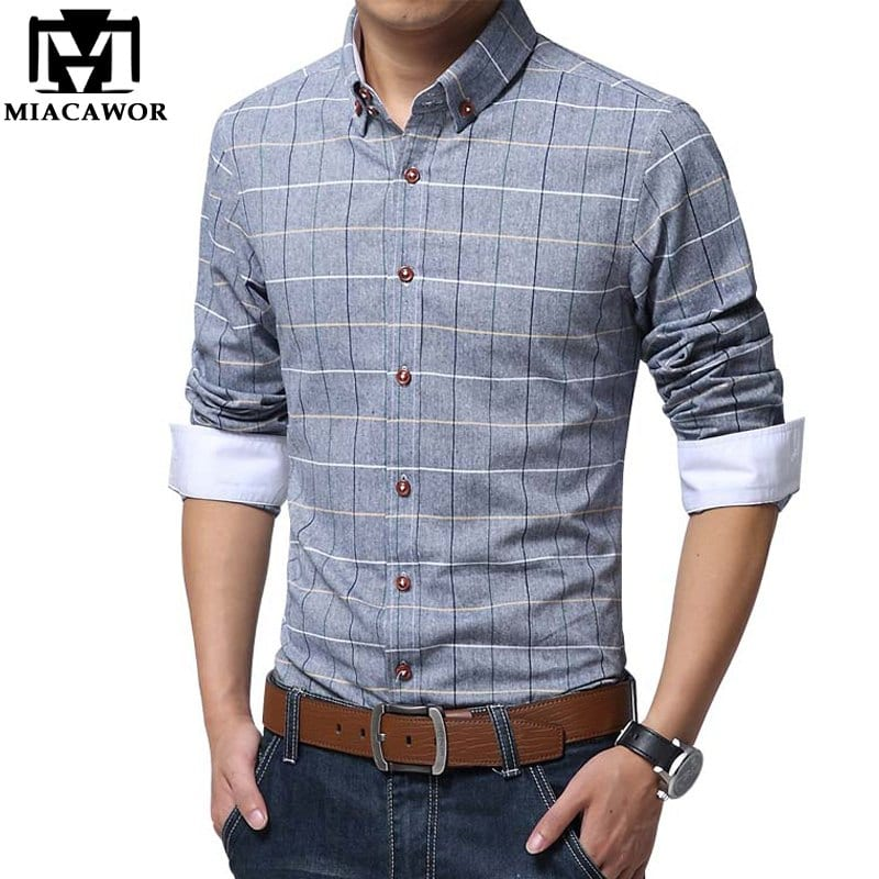Business-casual ranges from suits without ties to wearing just shirts and pants. Dressing down further would take you too far into casual territory. Yes, you've seen great outfits that combine jeans and t-shirts with shirts and sports coats.