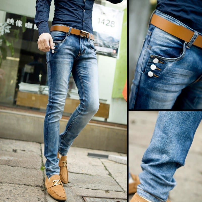 Special-wholesale-Men-s-fashion-personality-jeans-Decorative-buttons-Four-Seasons-can-wear-long-jeans-pants Men's Outfits with Skinny Jeans-18 Ways to wear Skinny Jeans