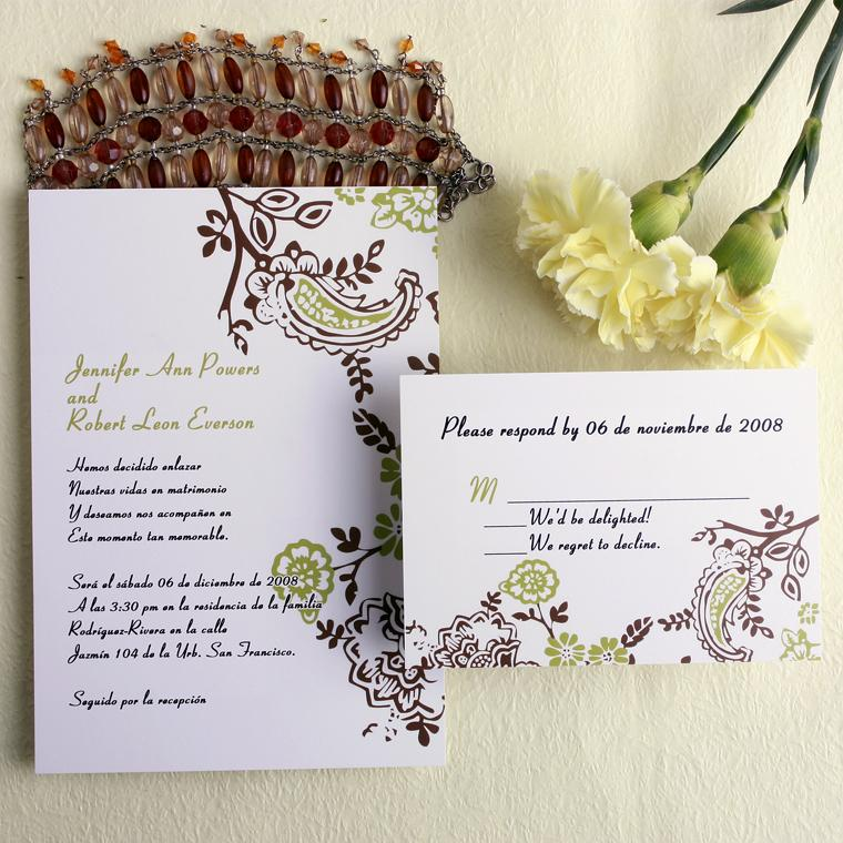 brown-and-green-wedding-invitation-with-spring-floral-p-LMI012 40 Most Elegant Ideas for Wedding Invitation Cards and Creativity