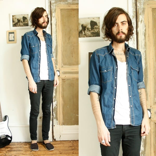 denim-fall-fashion-for-men Men's Outfits with Skinny Jeans-18 Ways to wear Skinny Jeans